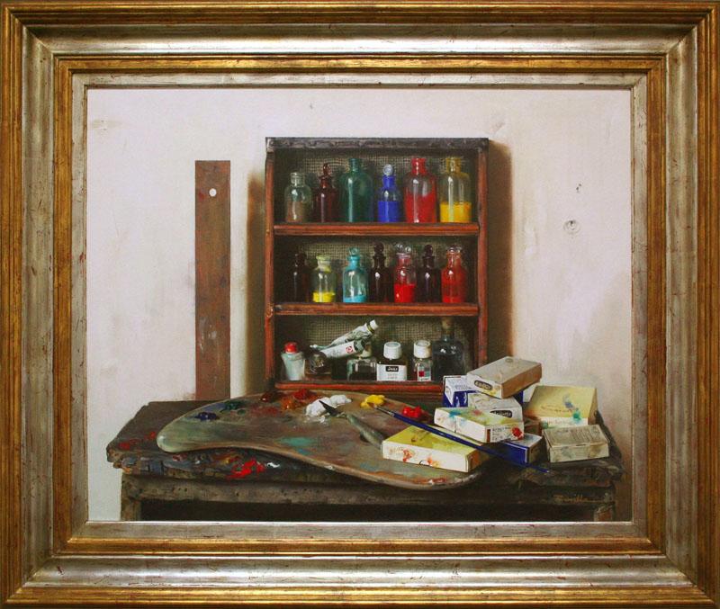Artist Materials On Shelves-YY