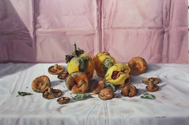Still Life With Mushrooms And Fruit-SA DE221- DP