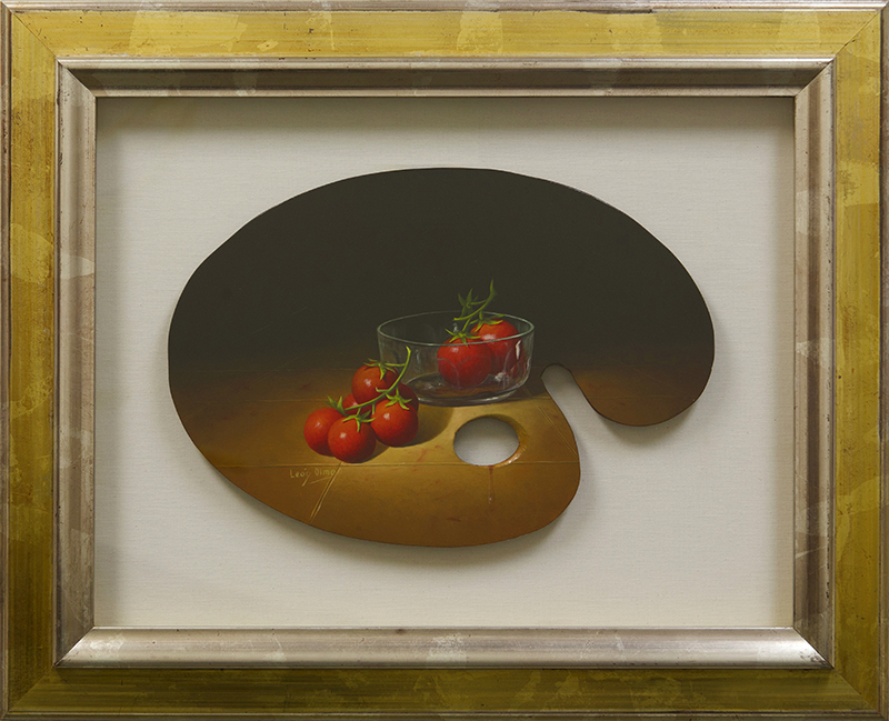 Palette Painting Cherry Tomatoes And Bowl