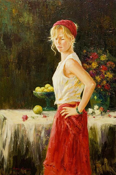 Red skirt -  Falda Roja-EB
