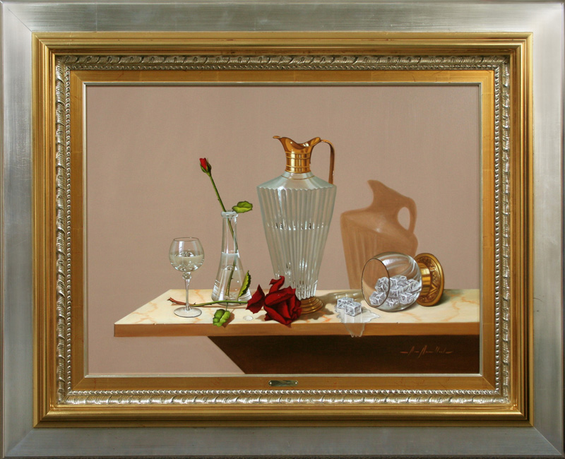 Still Life with Rose and Bud-DP-EB