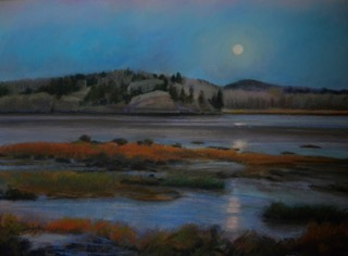 Moonrise Machias Bay