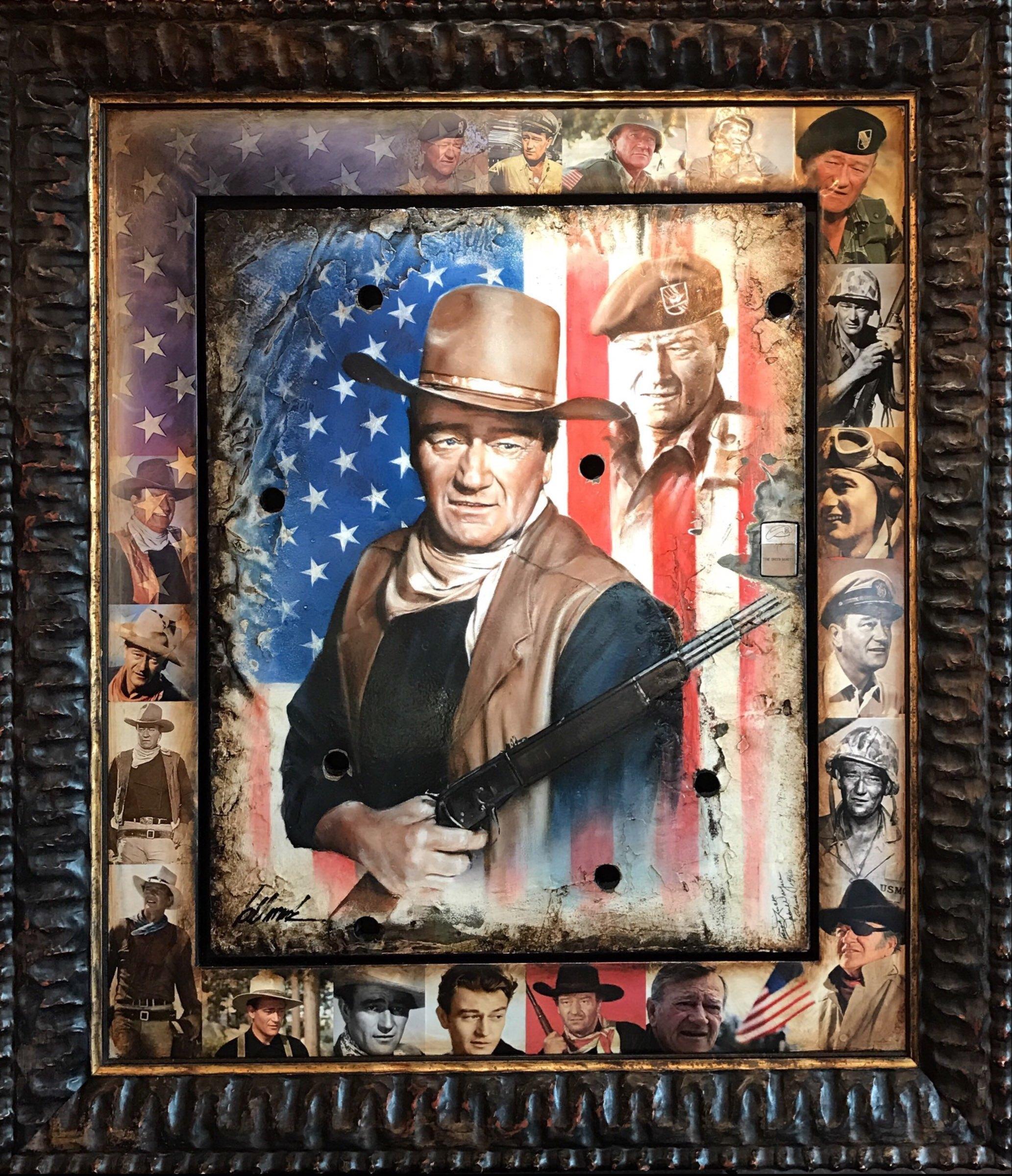 John Wayne with Lighter