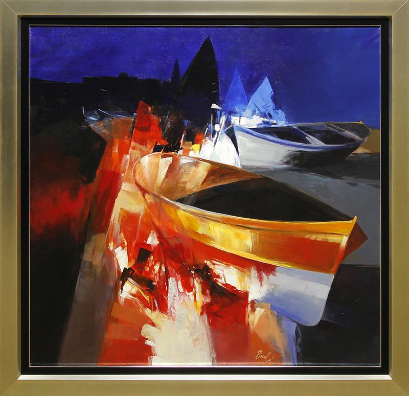 Paesaggio notturno con barche (Noctural Landscape with Boats)