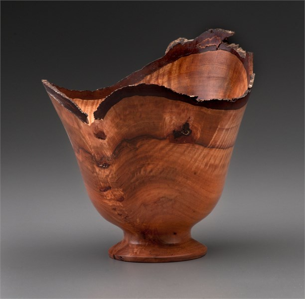 Hickory Compote Bowl at Brickworks Gallery