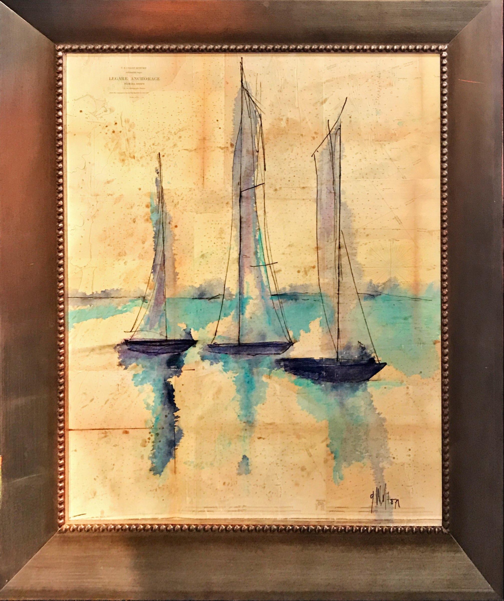 Sailboats On Nautical Charts