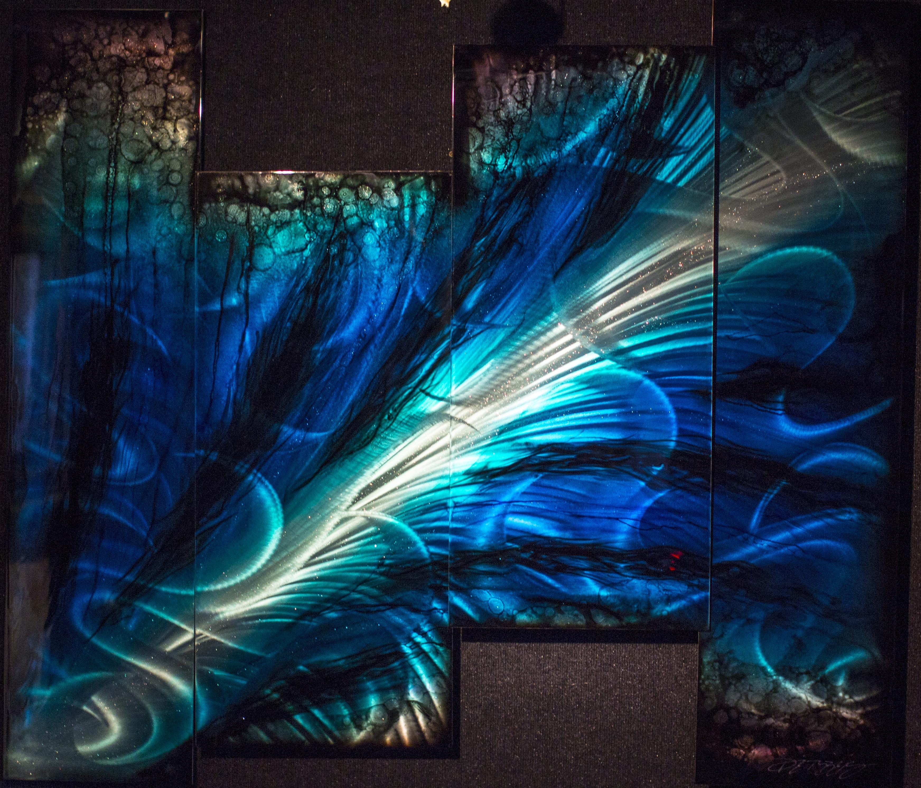 Blue Triumph 4 Panel