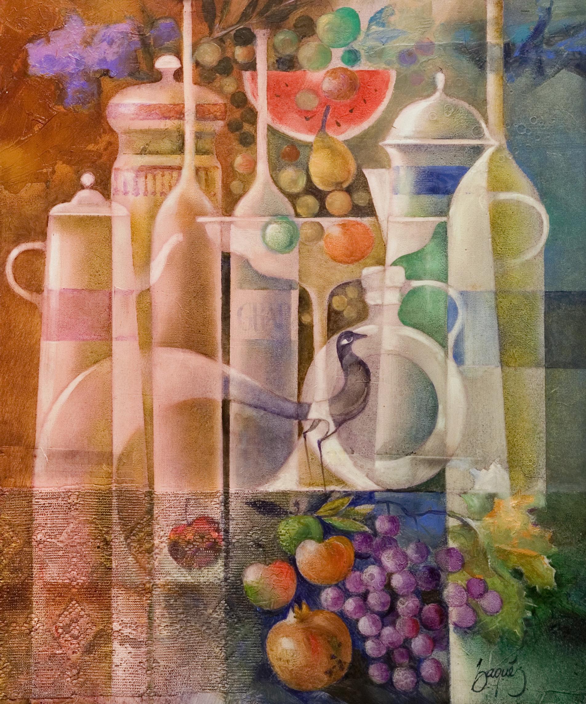 Bodego Amb Ceramiques I Fruites-EB