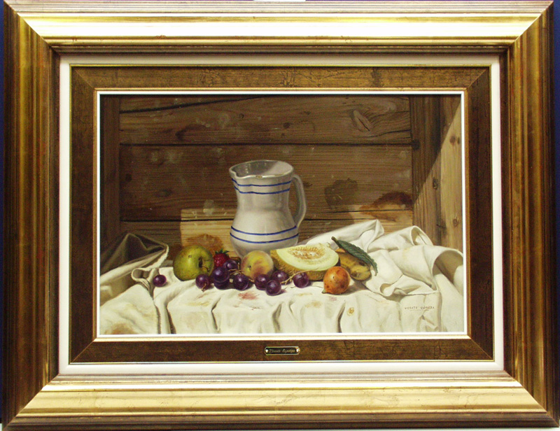 Still Life With Fruit And Delft Pitcher- EB