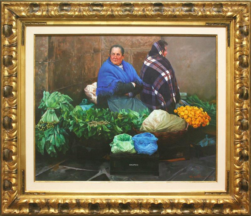 Woman In Market Setting-YY