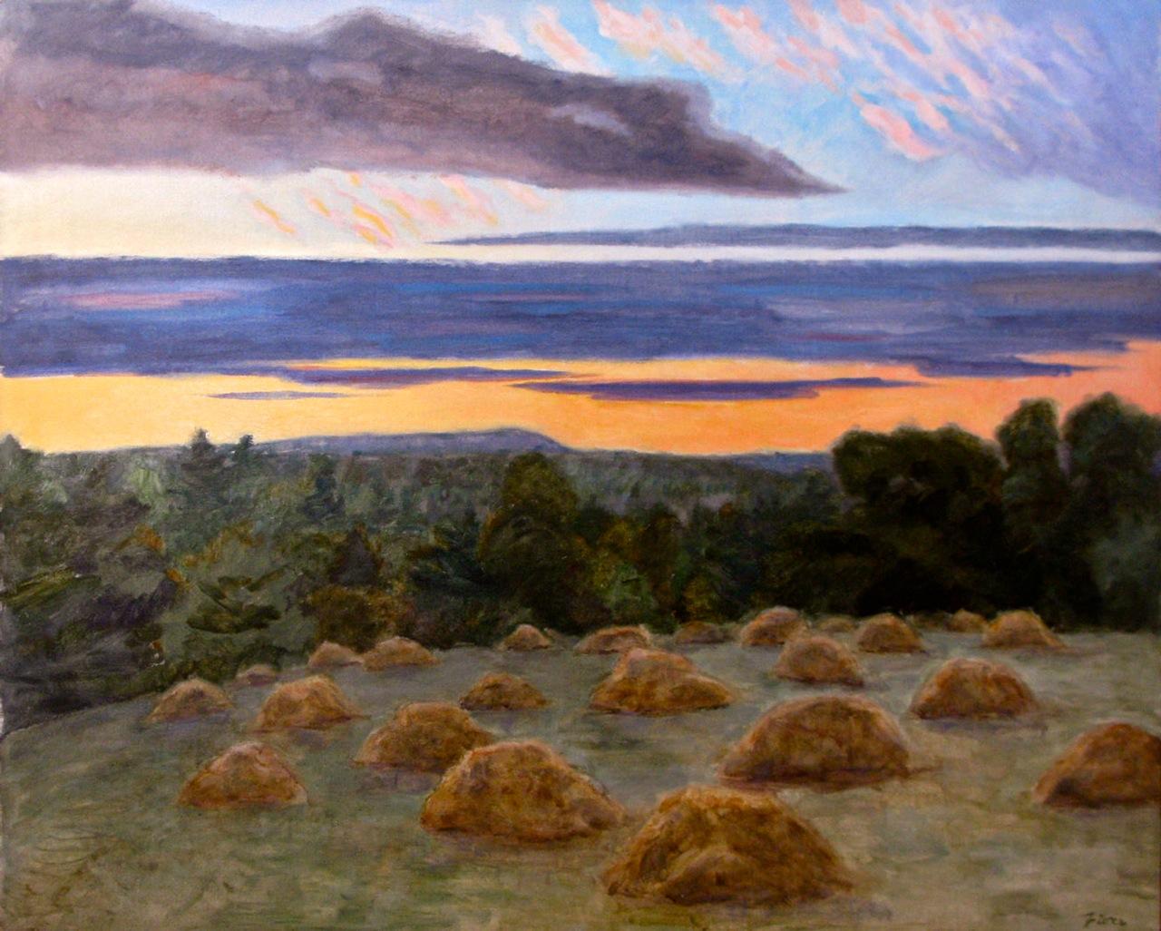 Haymounds at Dusk