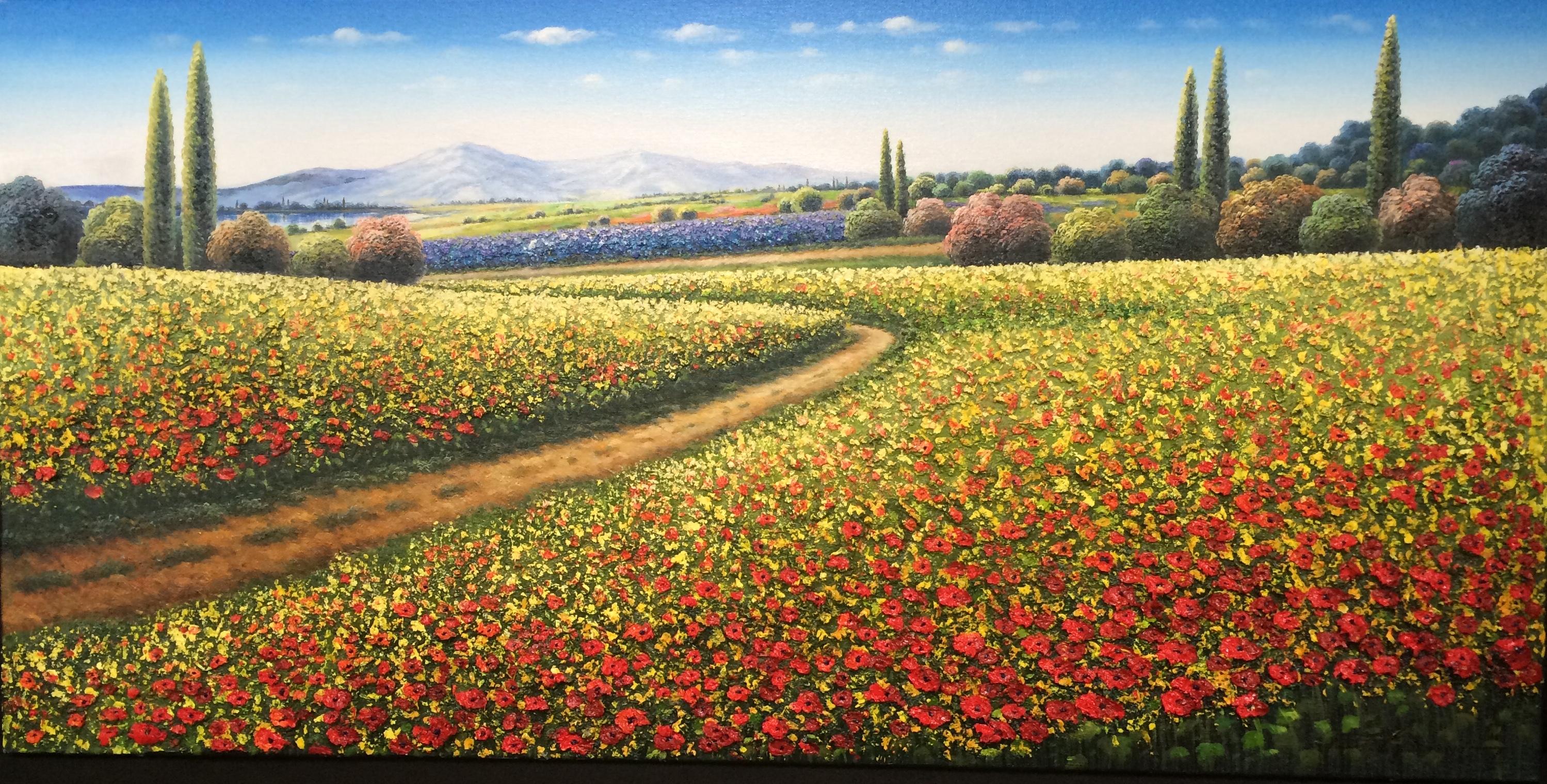 Along the Red Poppy Fields