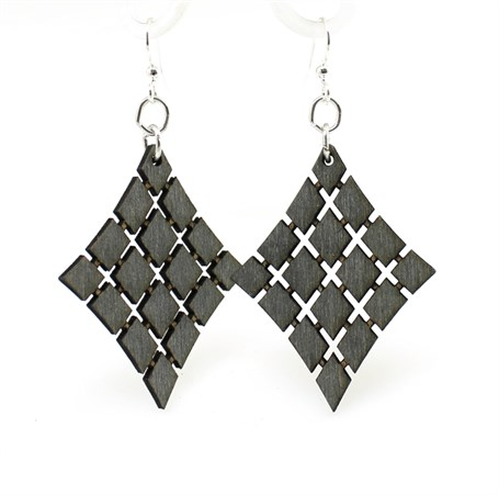 Earrings - Floating Diamond  1024