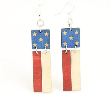 Earrings - American Flag 1473