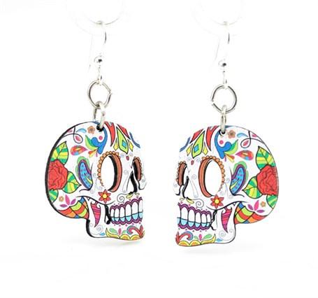 Earrings - Profile Sugar Skull 1529