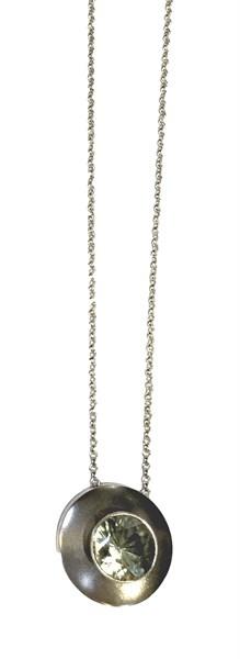 Necklace - Caracas Green Quartz & Sterling Silver  Pe-928