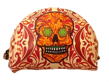Coin Purse - Leather Catrina Flames