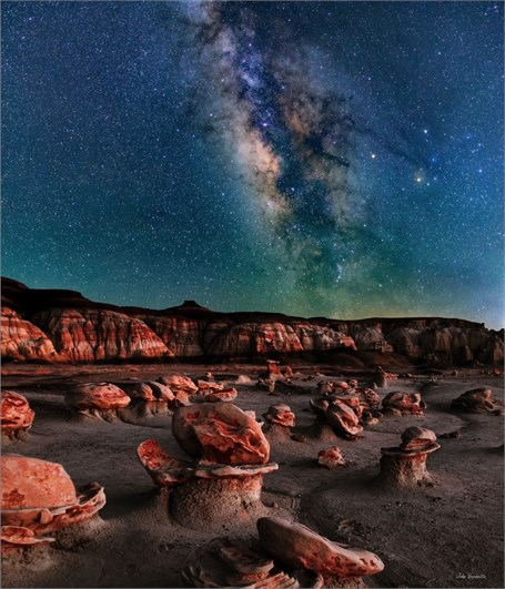 Milky Way Over - Alien Eggs Bisti Badlands New Mexico - Drop Shipping Available