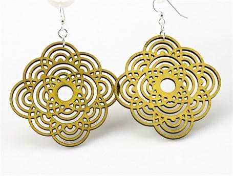 Earrings - Large Diamond Half Circles 1374