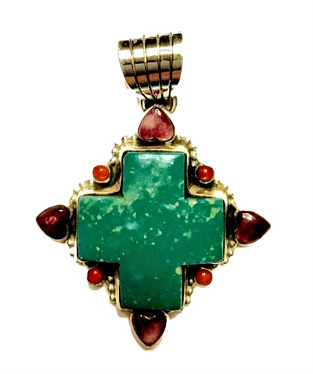 Pendant - Southwest Star Turquoise & Spiny Oyster