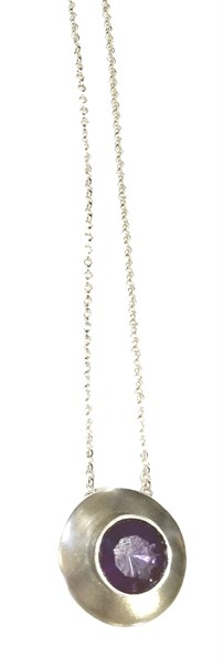 Necklace - Caracas Amethyst & Sterling Silver Pe-927