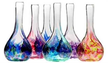 Glass - Blue/Pink Christine Vase
