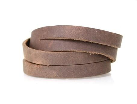 Leather Split Wrist Wrap - Saddle  RU33