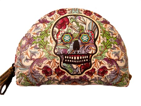 Coin Purse - Leather Catrina Floral