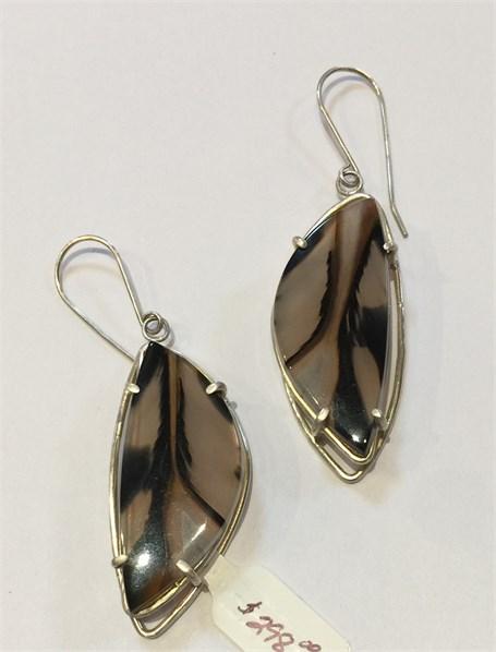 Earrings - Selene - Silver & Agate  MS-5