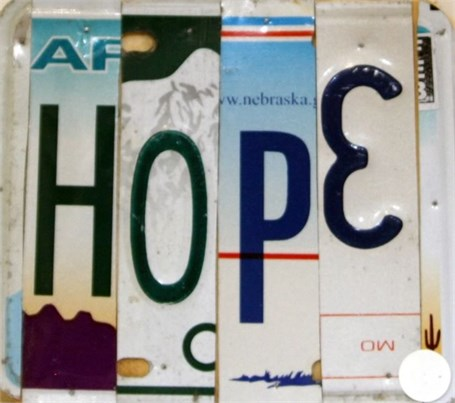 Lost License Plate - Hope
