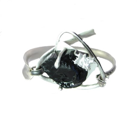 Bracelet - Black Tourmaline with Anticlassic Silver