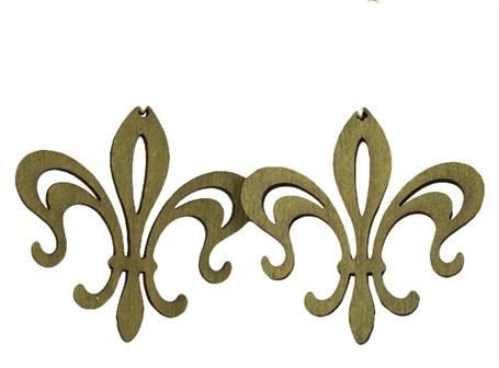 Earrings -  Fleur de Lis Hollow Points  1117