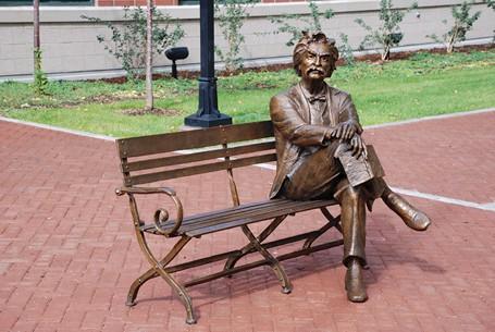 Mark Twain Bench - Life Size