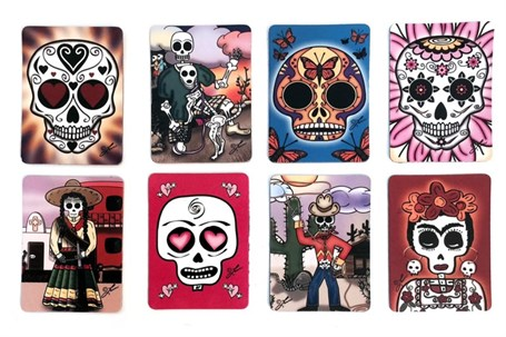 Magnet - Card Day of the Dead Assorted