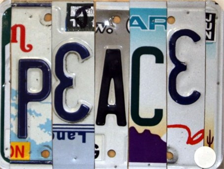 Lost License Plate - Peace