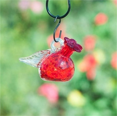Hummingbird Feeder - Pixie Hanging (Red & Assorted Colors)