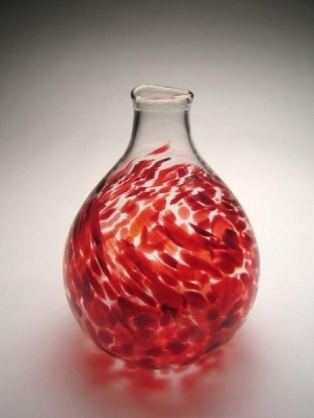 Glass - Red Good Value Vase