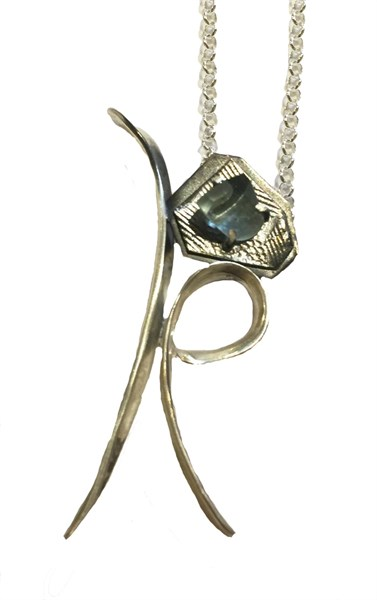 Necklace - Aquamarine Flower