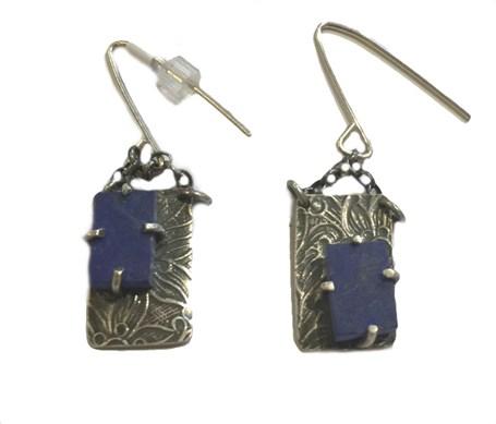 Earrings - Lapis