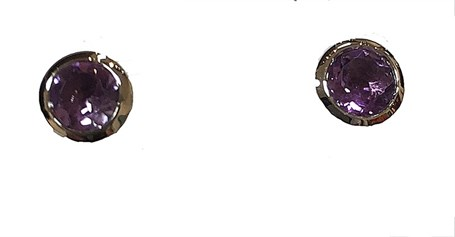 Earrings - Sterling Silver Post & Amethyst JVE3136A