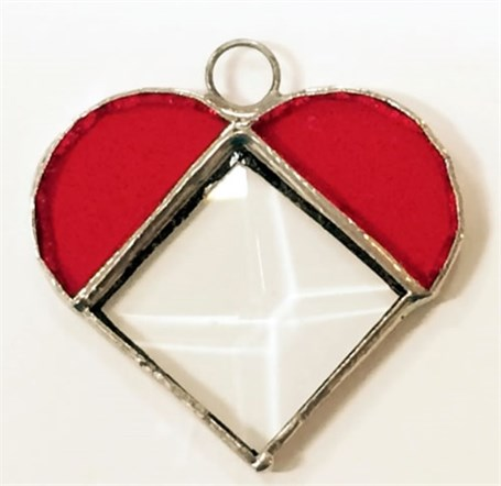 Stained Glass Prism Heart - Small