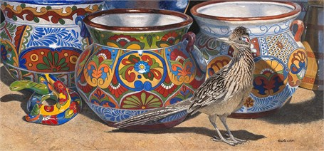 Giclee - Cuckoo At The Pot Shop - Roadrunner (Unframed) - Available Framed