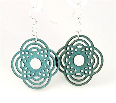 Earrings - Small Diamond Half Circles  1375