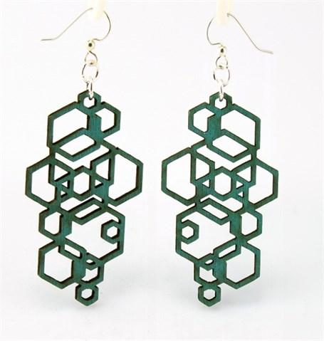 Earrings - Hexagon Cluster 1051