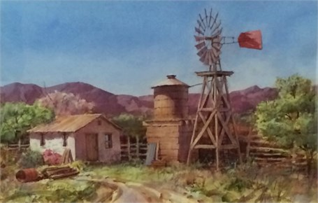 Old Western Windmill