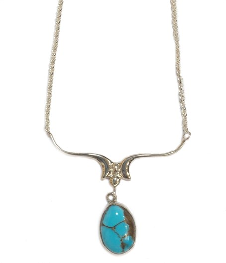 Necklace - French Curves Drop Ne-956