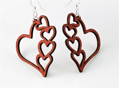 Earrings - Cascade of Hearts 1042