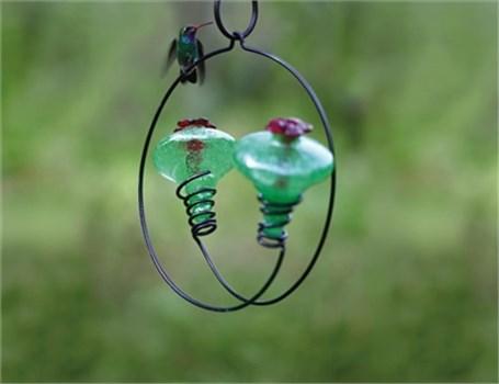 Hummingbird Feeder - Balance 2 ( 1 Aqua 1 Clear 1 Blue 1 Green)