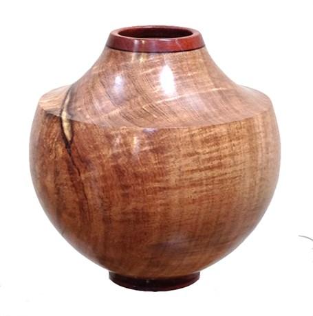 Wood Vessel -  Mesquite & Bloodwood Collar  1562