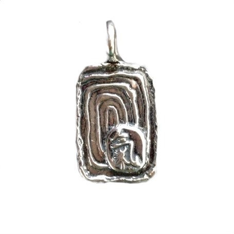 Pendant - Silver Spiral With Chi (2220)